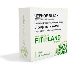 Маска шампунь для жирных волос BLACK fitoland