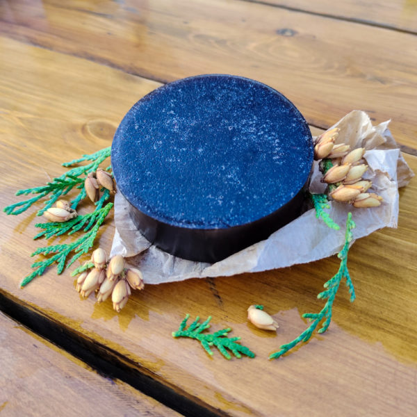 Щампуневое мыло с углем для бритья и волос